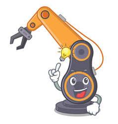 have an idea industrial robotic hand in the vector image