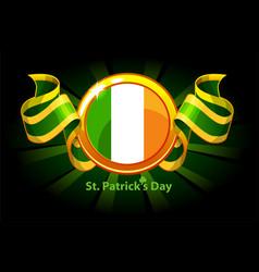 ireland flag award for st patricks day vector image
