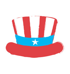 Isolated american party hat vector