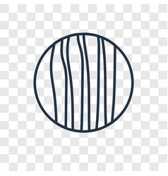 jupiter concept linear icon isolated on vector image