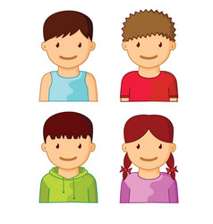 kids avatars part one vector image