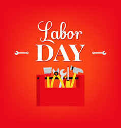 Labour day typography vector