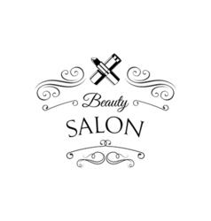 Lipstick Beauty Salon Design Elements in Vintage vector