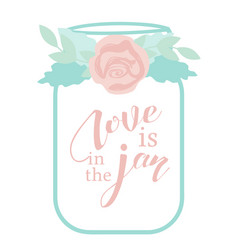 love is in the jar vector image