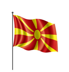 macedonia flag on a white vector image