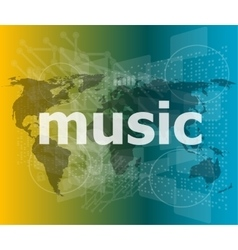 music word backgrounds touch screen with vector image