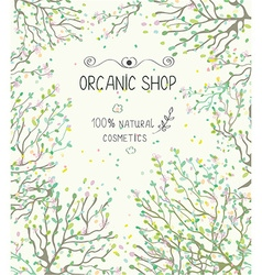 Organic shop template for natural products vector image