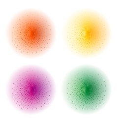 Paint spray effects orange yellow pink green vector