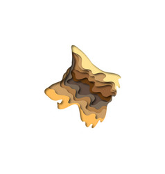 Paper cut shepherd dog shape 3d origami vector