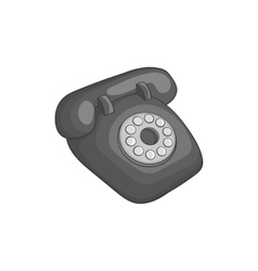 Phone handset icon black monochrome style vector