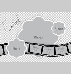 Photo frame for sweet baand family album vector