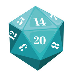 Polyhedral dice for playing games rpg geometric vector
