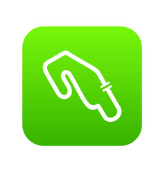 race circuit icon digital green vector image