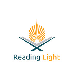 Reading quran light islamic education dome mosque vector