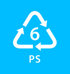 Recycle arrow triangle ps types 6 isolated on vector