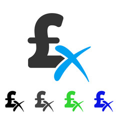 Reject pound flat icon vector
