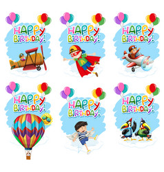 set birthday icon vector image
