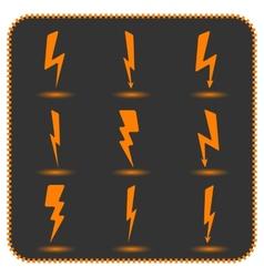 Set lightning vector image