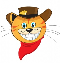 smiling cat vector image