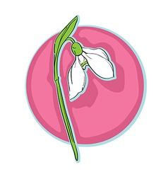 snowdrop clip art vector image