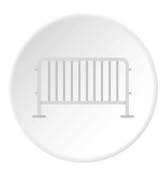 Steel barrier icon circle vector