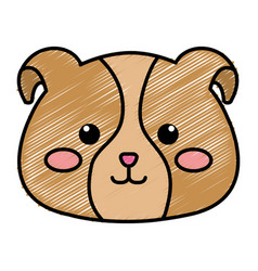 Stuffed animal dog vector