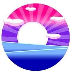 Sunrise over sea vector