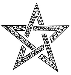 Tattoo tribal star isolated sketch star vector
