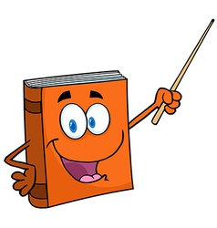 Text Book Cartoon Character With A Pointer vector image
