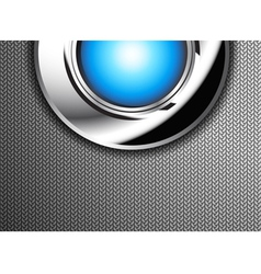 The button on the steel plate vector image