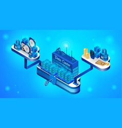 the concept of a secure cloud storage system vector image