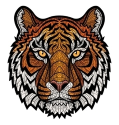 Tiger head isolated vector