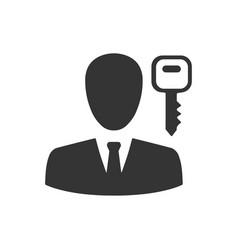 User login icon vector