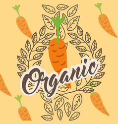 vegetables organic natural vector image