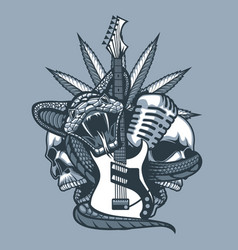 viper enveloping guitar microphone against vector image