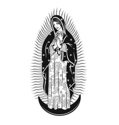 virgin guadalupe the mary poster vector image