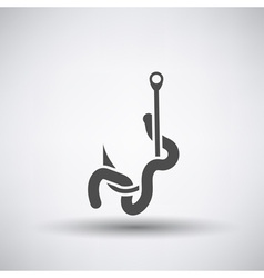 Worm on Hook Icon vector