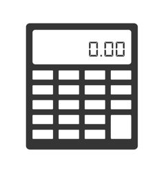 calculator maths numbers icon vector image