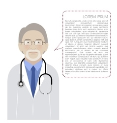 Doctor isolated on white background vector image