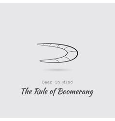 Greyscale Icon of Boomerang vector image
