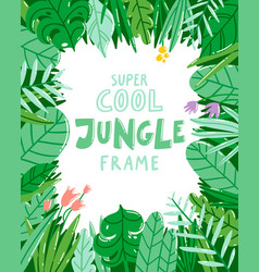 jungle frame vector image vector image