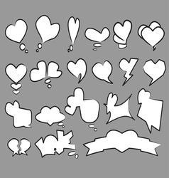 20 Heart text bubble set vector image vector image