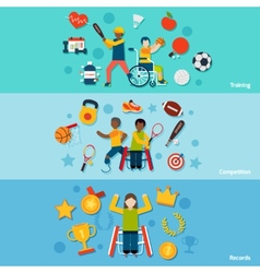 Disabled Sports Banners vector image vector image