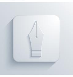modern Fountain pen light icon vector image