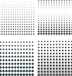 solid dark geometric halftones set vector image