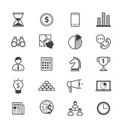 Business and Finance Strategy Icons Line vector image vector image