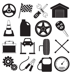 Car Service and Tool Icons vector image