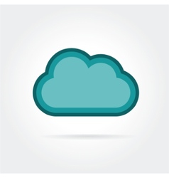 cloud icon isolated on white background vector image