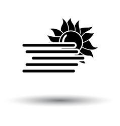 fog icon vector image