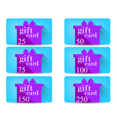 Gift card with a gift box in a flat style vector